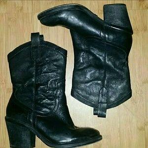 👢Sam Edelman Nile Short Black Cowboy Boots👢